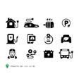 electro car icons collection vector image vector image