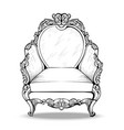 exquisite imperial baroque armchair in luxurious vector image vector image