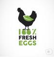 farm fresh eggs vector image