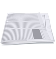 Folded newspaper tabloid vector image