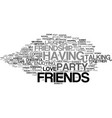 friends word cloud concept vector image vector image