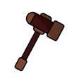 gavel justice symbol vector image