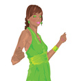 Girl at party vector image vector image