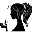 Girl silhouette love vector image