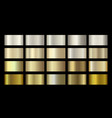 gold metallic bronze silver chrome copper vector image