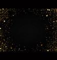 golden glitter confetti falling on black vector image vector image