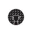 golf icon graphic design template vector image vector image