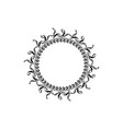 graphic circle frames wreaths for design vector image vector image