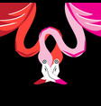 graphics beautiful miracle portraits of flamingos vector image vector image