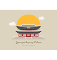 Gyeongbokgung Palace south korea eps10 vector image