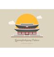 Gyeongbokgung Palace south korea eps10 vector image vector image