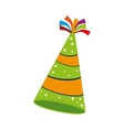 hat birthday fun color isolated vector image
