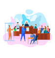 hearing court decision in courtroom criminal law vector image