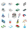 Isometric science icons with 3D design vector image vector image