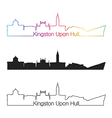 kingston upon hull skyline linear style vector image vector image