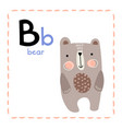 letter b funny alphabet for young children vector image vector image