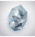Light blue crystal vector image