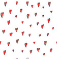 love valentines day hearts seamless pattern vector image vector image