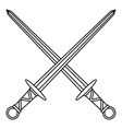 Medieval swords icon outline style vector image vector image