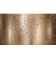 metal background with drops and streaks water vector image vector image