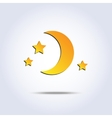moon icon vector image