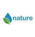 nature logo and farm logo vector image vector image