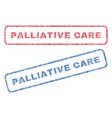 palliative care textile stamps vector image vector image