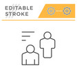 people editable stroke line icon vector image