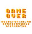 pixel game font 8 bit graphic 80s vector image