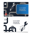 plumbing and pipes business card concept vector image