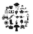 ranch icons set simple style vector image vector image
