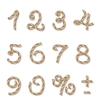 Rope numbers vector image vector image