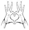 ruka srceG resize vector image vector image