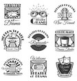 set of classic theater isolated labels vector image