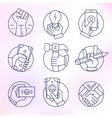 Set of icons in modern linear style vector image vector image
