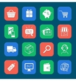 Shopping E-commerce Icons Set vector image