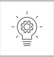 simple light bulb conceptual icon with gear inside vector image