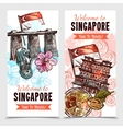 Singapore Sketch Vertical Banners vector image vector image