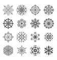 snowflake icons set vector image vector image