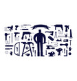 stock workshop tool kit and worker vector image vector image
