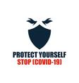 stop covid-19 coronavirus vector image vector image