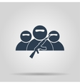 terrorist icon concept for vector image vector image