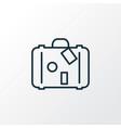 travel bag icon line symbol premium quality vector image vector image