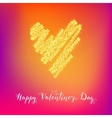 Valentines day greeting vector image vector image