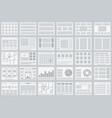 website flowcharts layouts of tabs infographics vector image vector image