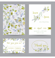 Wedding Invitation or Congratulation Card Set vector image