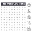 workflow line icons signs set outline vector image vector image