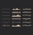 music sound waves vector image