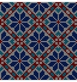 Seamless norwegian embroidered winter pattern vector image
