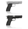 silver and black automatic pistol vector image